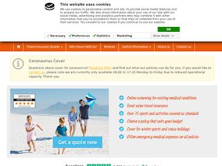 travelinsurancesaver.co.uk screenshot