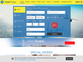 traveltrolley.co.uk screenshot