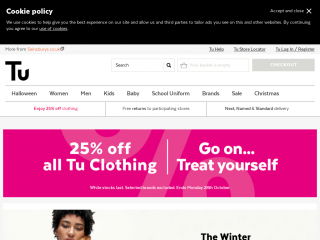 tuclothing.sainsburys.co.uk screenshot