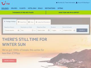 tui.co.uk screenshot