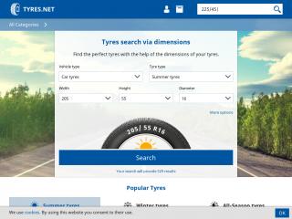 tyres.net screenshot