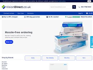 visiondirect.co.uk screenshot