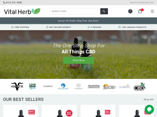 vitalherb.co.uk screenshot