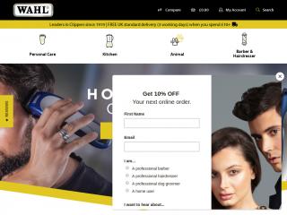 wahl.co.uk screenshot