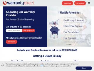 warrantydirect.co.uk screenshot