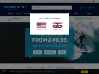 wetsuitoutlet.co.uk screenshot